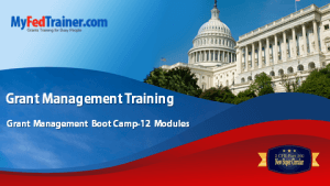 Grant Management Training