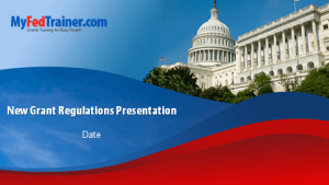 New grant regulations slides