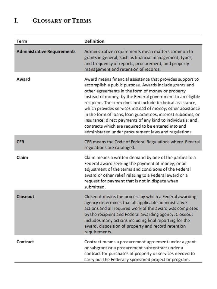 Uniform guidance procurement manual editable template for Purchasing manual template